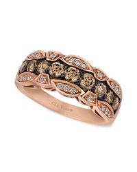 Le Vian | Brown Chocolate And White Diamond Band (1-1/8 Ct. T.w.) In 14k Rose Gold | Lyst