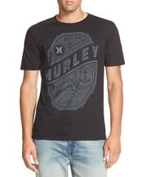 Hurley | Black 'dark Tide' T-shirt for Men | Lyst