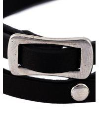 McQ - Black Razor Blade Double Wrap Bracelet - Lyst