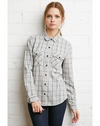 Forever 21 | Gray Check Plaid Shirt | Lyst
