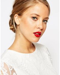ASOS | Metallic Limited Edition Moon Through Earrings | Lyst