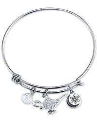 Disney | Metallic Aladdin Genie Crystal Charm Bracelet In Stainless Steel | Lyst