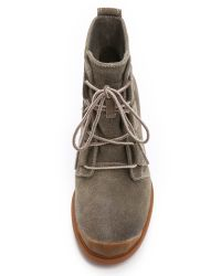 Sorel | Gray Toronto Lace Up Booties | Lyst