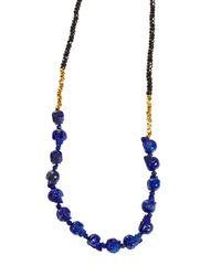Jade Jagger - Blue Lapis Skull Necklace - Lyst