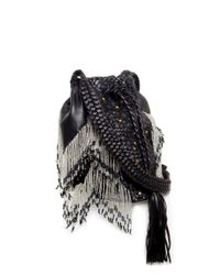 En Shalla | Black Small Beaded Bucket Bag | Lyst