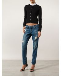 Boutique Moschino Black Pearl Button Cardigan