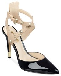 Guess | Black Women's Brea Studded Straps Pumps | Lyst