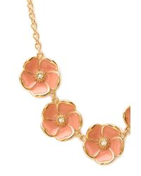 Forever 21 - Pink Garden Floral Charm Necklace - Lyst