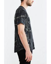 10.deep - Black Dotted Curved-hem Tee for Men - Lyst