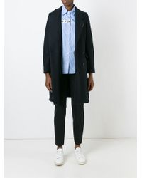 AALTO   Blue Oversize Double Breasted Coat   Lyst