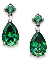 Arabella | Green Swarovski Zirconia Drop Earrings (11-9/10 Ct. T.w.) | Lyst