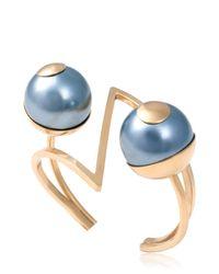 Leivan Kash | Metallic Mata Cuff Bracelet | Lyst