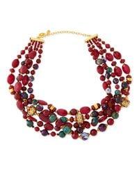 Jose & Maria Barrera | Multicolor Chunky Multi-Stone Necklace | Lyst