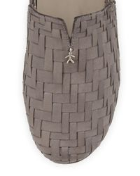 Henry Beguelin - Gray Woven Leather Smoking Slipper - Lyst