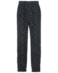 French Connection Green Medina Tile Drape Joggers