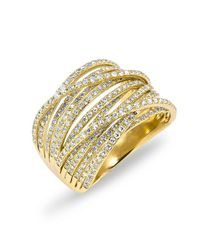 Anne Sisteron | Metallic 14kt Yellow Gold Diamond Wire Ring | Lyst