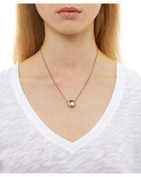 Larkspur & Hawk - Metallic Gold Topaz Olivia Button Necklace - Lyst