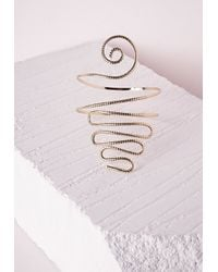 Missguided - Metallic Weave Festival Arm Cuff Gold - Lyst