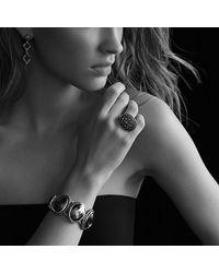 David Yurman - Black Diamond Sterling Silver Drop Earrings - Lyst
