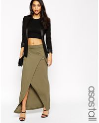 ASOS - Natural Tall Maxi Skirt With D-ring - Lyst
