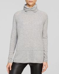 Vince - Gray Mixed Weight Cashmere Sweater - Lyst