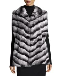 Gorski | Gray Rabbit-fur Stand-collar Jacket | Lyst