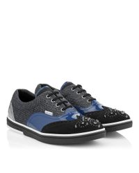 Jimmy Choo Black Leather High-top Sneakers for men