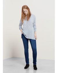 Violeta by Mango - Gray Wool-blend Sweater - Lyst