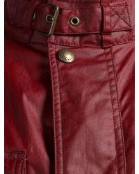 Belstaff Red Burgess Waxed Jacket for men