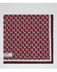 Reiss | Red Santa Cruz Silk Pocket Square for Men | Lyst