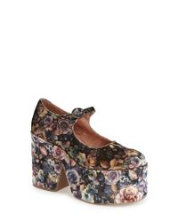 Jeffrey Campbell | Brown Naya Floral-Print Platform Pumps | Lyst
