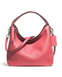 COACH - Pink Bleecker Sullivan Hobo In Pebbled Leather - Lyst