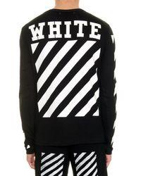 Off-White c/o Virgil Abloh Black Striped Long-Sleeved T-Shirt for men