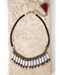 Forever 21 | Gray Faux Stone Statement Necklace | Lyst