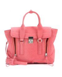 3.1 Phillip Lim Pink Pashli Medium Leather Tote