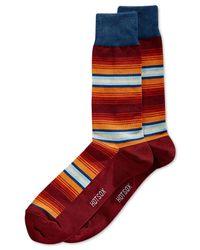 Hot Sox | Purple Ombré-stripe Crew Socks for Men | Lyst