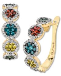Le Vian - Multicolor Mixberry™ Diamond Circle Earrings (1-1/2 Ct. T.w.) In 14k Honey Gold™ - Lyst