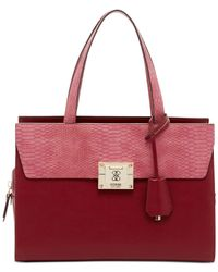 Guess | Pink Angela Madison Satchel | Lyst