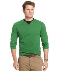 Izod | Green Long-sleeve Raglan Pullover for Men | Lyst