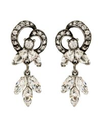 Ben-Amun | Metallic Triple Marquise Crystal Earrings | Lyst