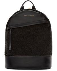Want Les Essentiels De La Vie Black Leather Piper Backpack