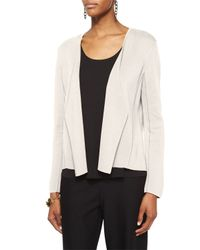 Eileen Fisher | White Silk and Organic Cotton Jacket | Lyst