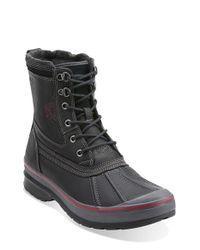 Clarks - Black 'milwright Hi' Snow Boot for Men - Lyst