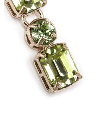 Valentino - Green Rhinestone Earrings - Lyst