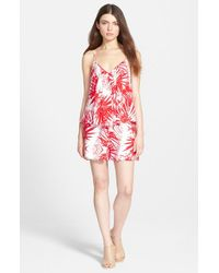 Plenty by Tracy Reese | Red Swingy Print Romper | Lyst