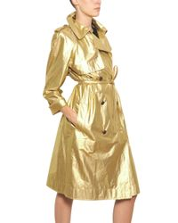 Lanvin | Gold Washed Laminated Cotton Canvas Trench | Lyst