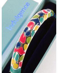 Indulgence Jewellery - Multicolor Round Multi Coloured Enamel Bangle - Lyst