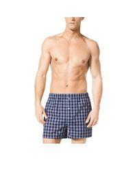 Michael Kors - Blue Two-pack Cotton-poplin Boxer Shorts for Men - Lyst