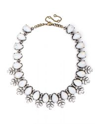 BaubleBar | White Crystal Wreath Collar | Lyst