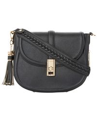 Dune - Black Deidre Twist Lock Shoulder Bag - Lyst